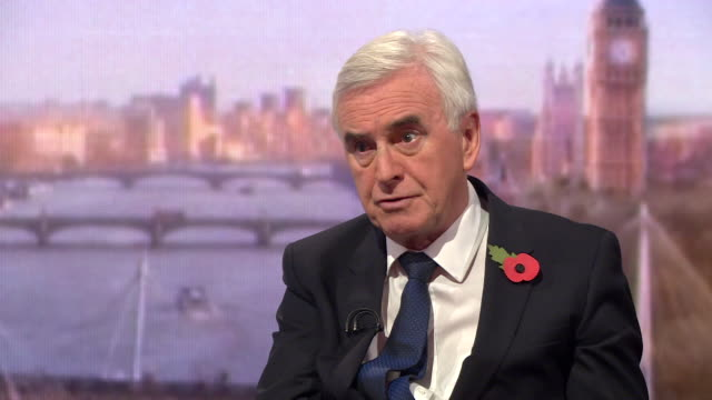 stockvideo's en b-roll-footage met must obtain permission from the andrew marr show before licensing john mcdonnell shadow chancellor says there's a 'callous complacency' about philip... - andrew marr