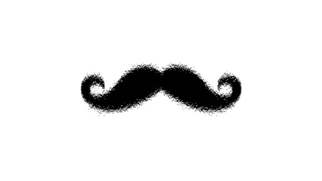 4k mustache animation |loopable - moustache stock videos & royalty-free footage