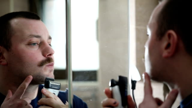 Mustache shaving