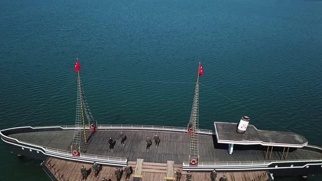 mustafa kemal atatürk, bantrma ferry samsun - 1910 1919 stock videos & royalty-free footage