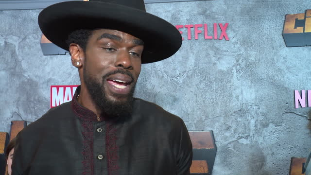 interview – mustafa shakir on why it's important for us to watch a character like luke cage on screen right now superheroes he was inspired by in... - edison ballroom stock videos & royalty-free footage