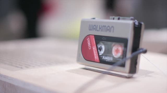 musthave 80s gadget and one time icon of japan electronics cool sony's walkman turned 40 this year and like its now middle aged acolytes is clinging... - stereo personale video stock e b–roll