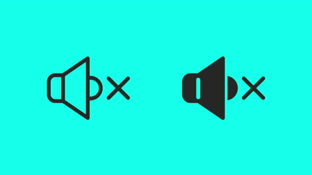 mute icons - vector animate - noise stock videos & royalty-free footage
