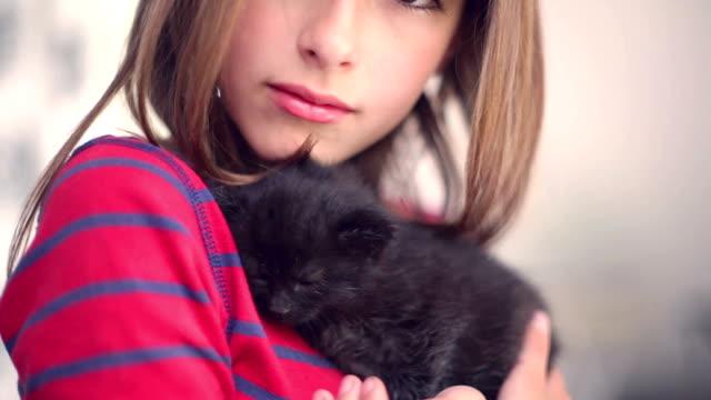 私の大好きなキトン - 黒猫点の映像素材/bロール