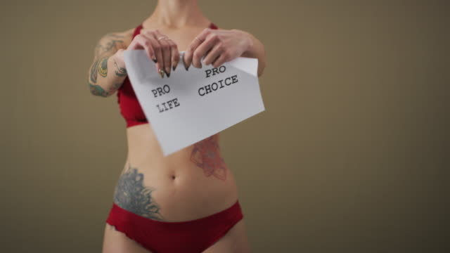 my body, my choice - abortion stock videos and b-roll footage