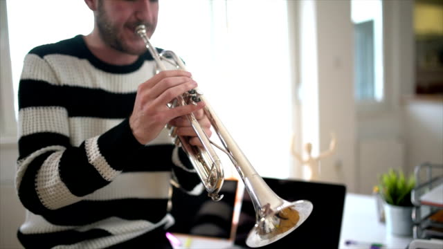 my favorite instrument - brass instrument stock videos & royalty-free footage