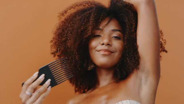 my hair is a part of who i am and i love it - natural hair stock videos & royalty-free footage