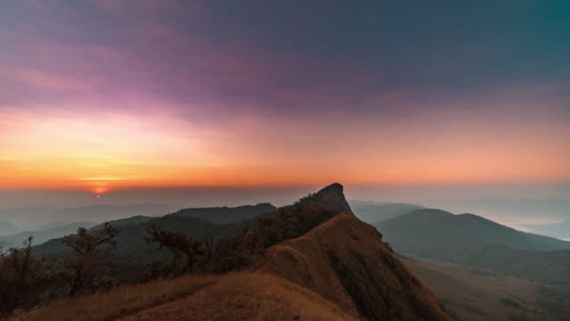 mon jong moutain at sunrise - star field stock videos & royalty-free footage