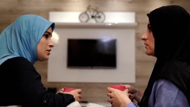 my mom is my best friend-modern arab family - oman stock videos & royalty-free footage