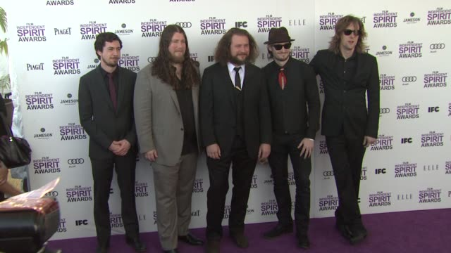 my morning jacket group members at the 2012 film independent spirit awards - arrivals on 2/25/12 in santa monica, ca, united states. - independent feature project stock videos & royalty-free footage