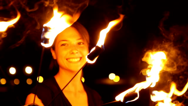my passion is my fire performance - street performer stock videos and b-roll footage