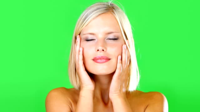 my skin has never been softer - blonde hair stock videos & royalty-free footage