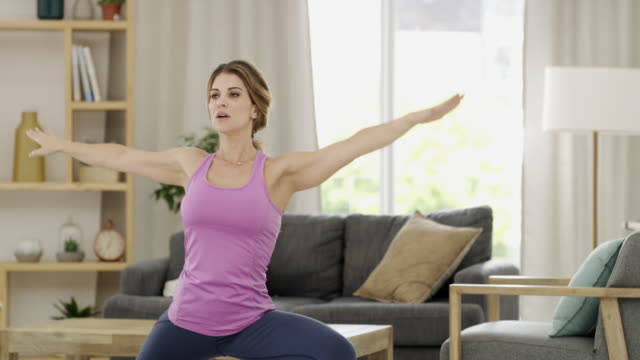my yoga was interrupted by love - relaxation exercise stock videos & royalty-free footage
