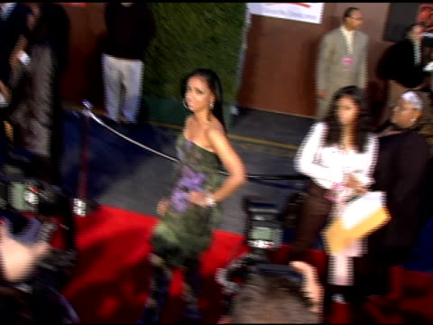 mya at the 19th annual soul train music awards arrivals at paramount studios in hollywood, california on february 28, 2005. - 歌手 マイア点の映像素材/bロール