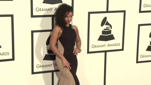 stockvideo's en b-roll-footage met mya at the 58th annual grammy awards® arrivals at staples center on february 15 2016 in los angeles california - 58e grammy awards
