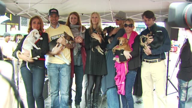 mya, jorge bendersky, diane neal, jen araki, beth ostrosky stern, jennifer jablow and lorenzo borghese at the mya hosts north shore animal league's... - 歌手 マイア点の映像素材/bロール