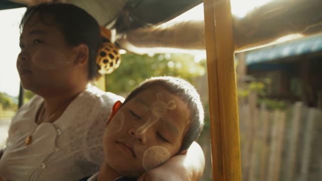 M/S Myanmar boy and mother in school bus