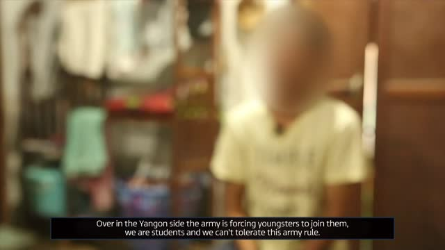 children fleeing country as the army forcibly recruits young soldiers; unidentified location: int rocco blume 2 way interview via internet sot india:... - war and conflict stock-videos und b-roll-filmmaterial