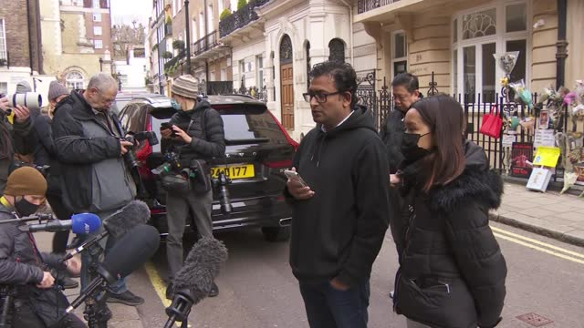 myanmar ambassador locked out of london embassy: statement to press; england: london: mayfair: myanmar embassy: ext min hein reading out statement to... - war and conflict stock-videos und b-roll-filmmaterial
