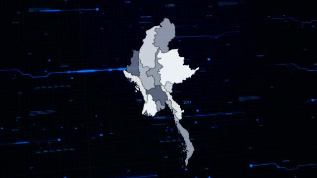 Myanmar network map