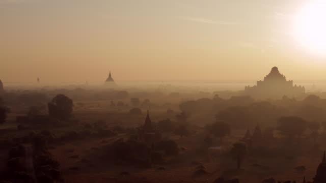 Myanmar temples at sunrise