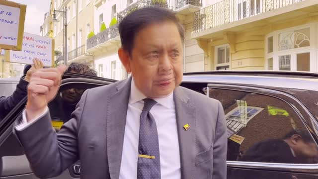 myanmar's ambassador in london said that he has been kicked out of the embassy building by the country's military attaché. kyaw zwar minn said the... - south east asia stock videos & royalty-free footage
