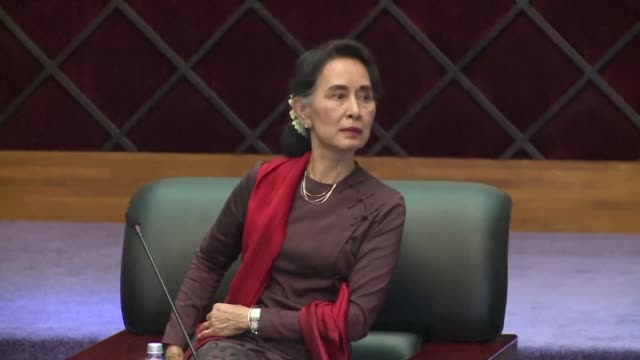 myanmars de facto premier aung san suu kyi holds landmark talks with senior rebel leaders as she strives to seal a ceasefire with a patchwork of... - patchwork stock videos & royalty-free footage