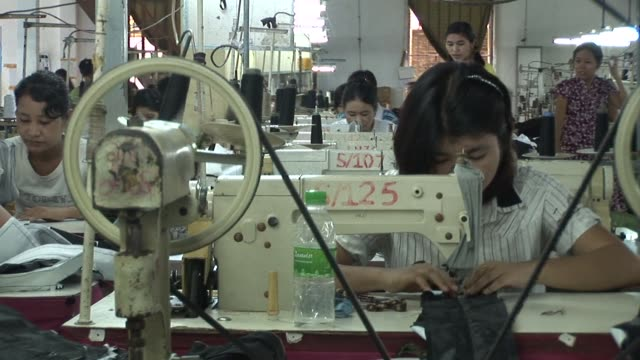 myanmars garment and agricultural industries could be set for a revival following a landmark us decision to ease bans on imports but experts warn... - revival stock videos & royalty-free footage