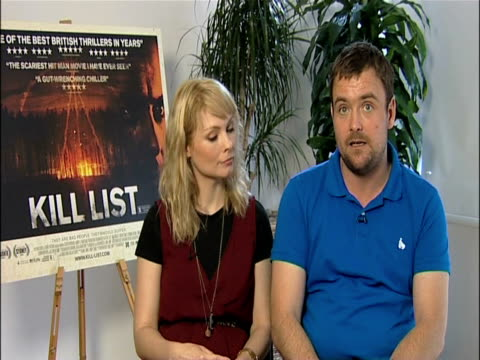 myanna buring and neil maskell on how they got cast in the movie at the kill list - interviews at london england. - myanna buring stock videos & royalty-free footage