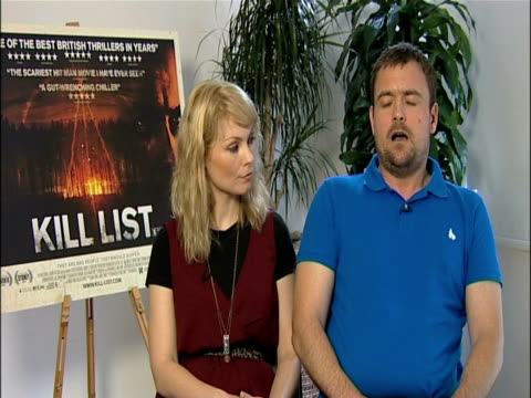 myanna buring and neil maskell on the dualities of the characters at the kill list - interviews at london england. - myanna buring stock videos & royalty-free footage