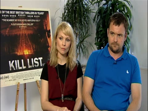myanna buring and neil maskell on the humanity of the characters and the humour at the kill list - interviews at london england. - myanna buring stock videos & royalty-free footage