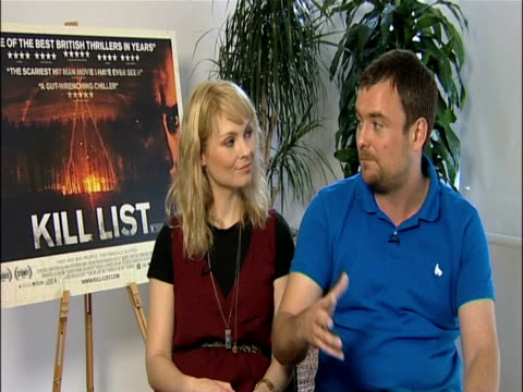 myanna buring and neil maskell on what kill list is about and its tone at the kill list - interviews at london england. - myanna buring stock videos & royalty-free footage