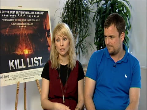 myanna buring and neil maskell on what they've got coming up next at the kill list - interviews at london england. - myanna buring stock videos & royalty-free footage