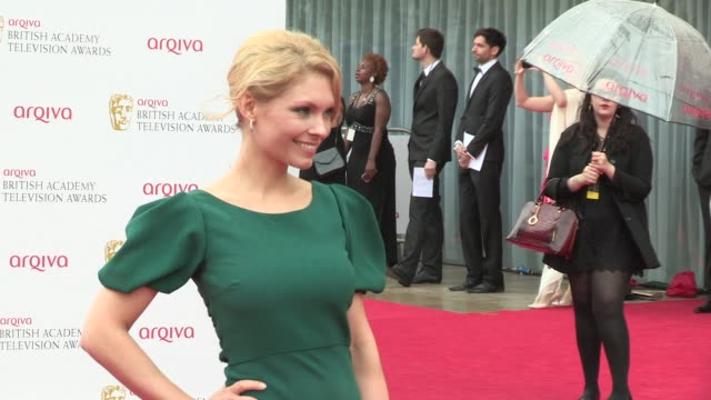 myanna buring at bafta tv awards 2013 5/12/2013 in london, uk. - myanna buring stock videos & royalty-free footage