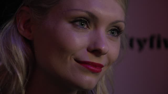 myanna buring at 'sightseers' uk premiere at london transport museum on november 26, 2012 in london, england. - myanna buring stock videos & royalty-free footage