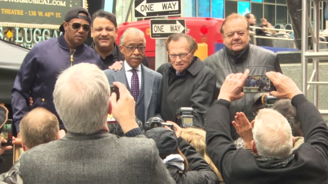 mykalai kontilai paul sorvino master p larry king reverend al sharpton and marty markowitz at unveiling of the original longlost jackie robinson... - al sharpton stock videos & royalty-free footage