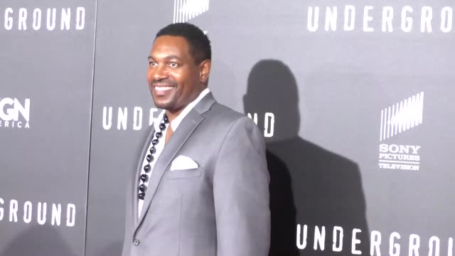 mykelti williamson at the wgn america's underground world premiere at ace hotel in los angeles - celebrity sightings on march 02, 2016 in los... - ミケルティ ウィリアムソン点の映像素材/bロール