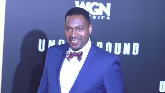 mykelti williamson at wgn america's 'underground' season two premiere screening on february 28, 2017 in westwood, california. - ミケルティ ウィリアムソン点の映像素材/bロール