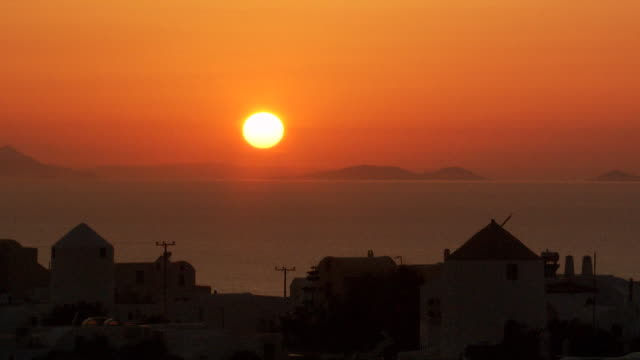 mykonos in the greek isles at dusk - mykonos stock videos and b-roll footage
