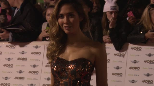 myleene klass at mobo awards 2014 at wembley arena on october 22, 2014 in london, england. - wembley arena stock videos & royalty-free footage