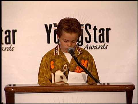 myles jeffrey at the youngstar awards nominations at the mondrian hotel in west hollywood, california on september 6, 2000. - モンドリアンホテル点の映像素材/bロール