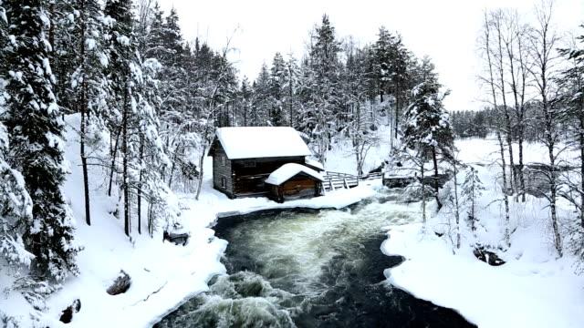 Myllykoski Rapids old wooden Mill Juuma Oulanka Nat Pk Finland