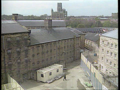 Myra Hindley to spend rest of life in prison ENGLAND Durham Jail wall and windows several shots