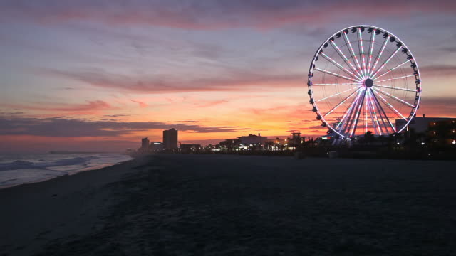 myrtle beach - ferris wheel stock videos & royalty-free footage