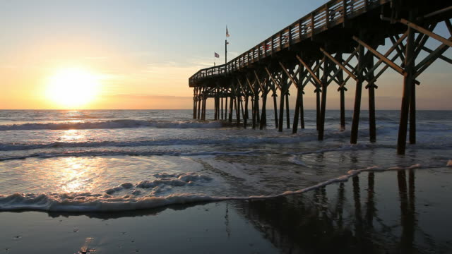 myrtle beach's pier 14 - south carolina stock videos & royalty-free footage