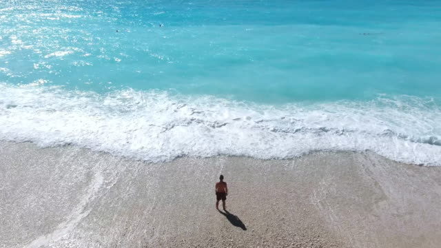 myrtos beach kefalonia - greece stock videos & royalty-free footage