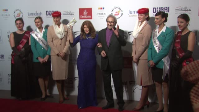Myrvat Amin and Nour el Sherif at 'Cairo Time' Red Carpet 11th Annual Dubai International Film Festival at Madinat Jumeirah on December 15 2014 in...