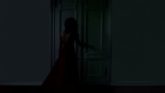mysterious door - only women stock videos & royalty-free footage