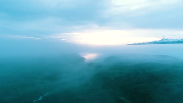 mysterious lake. aerial view - fairy stock videos & royalty-free footage