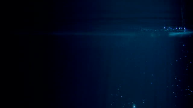 mysterious underwater scenery with single bubles - underwater stock videos & royalty-free footage